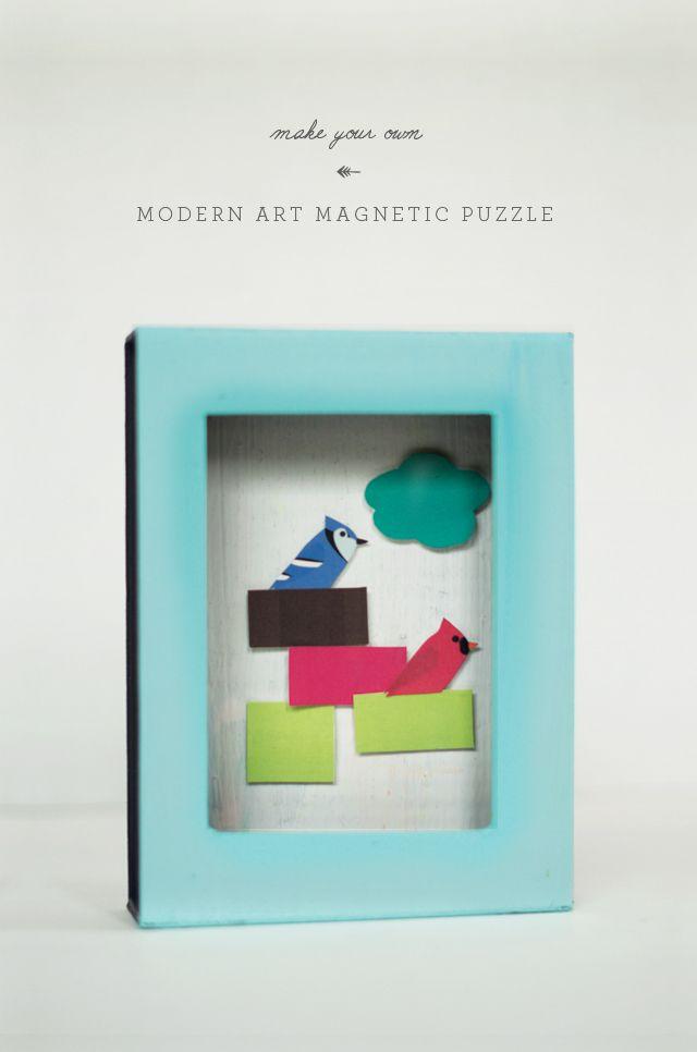 DIY |  Современное искусство Магнитный Puzzle Box |  маленький монстр