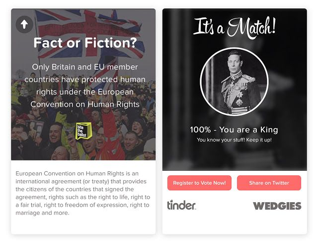 One In Five #Tinder Users Swiped Right to Learn About the #EURef - http://www.socialsongbird.com/2016/06/one-in-five-tinder-users-swiped-right.html#utm_sguid=162890,08f549fb-3642-9f79-82cb-cd4de4627672