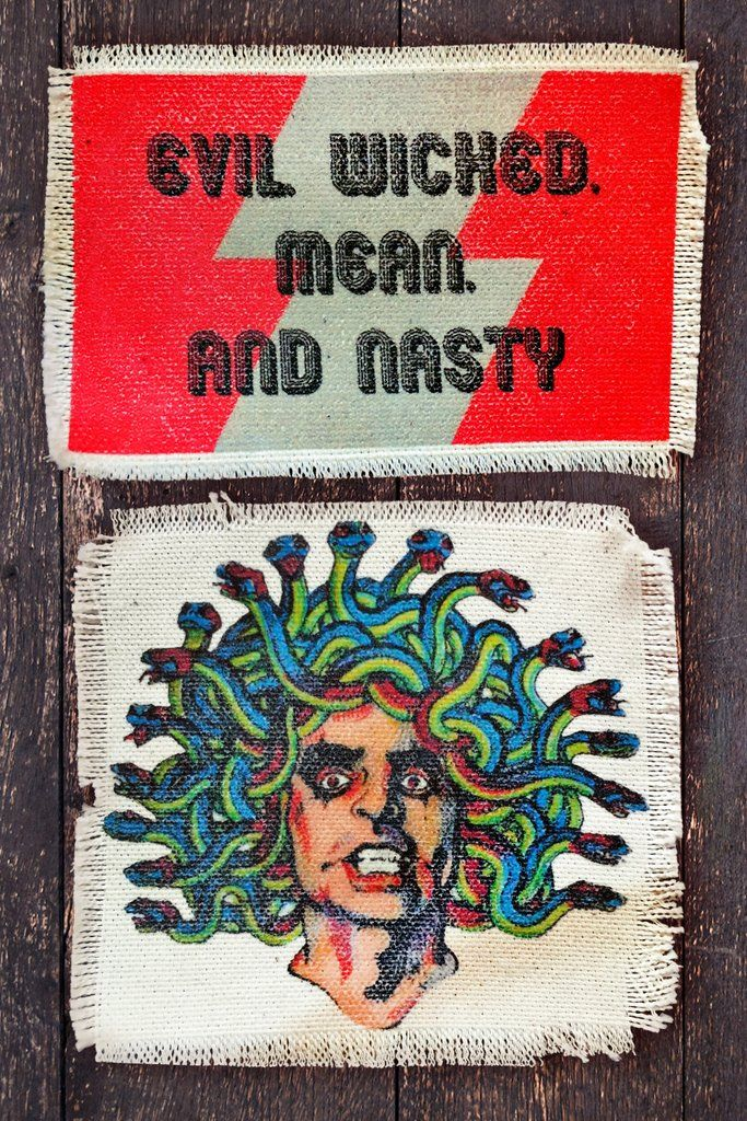 - Evil Wicked Mean & Alice Cooper - Recycled Canvas Patches