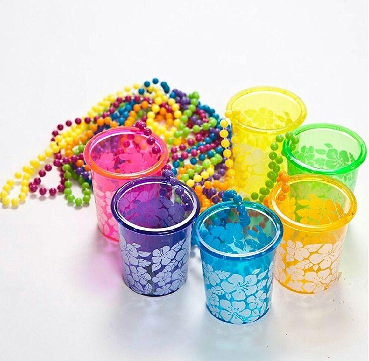 Tropical shot glass lanyards