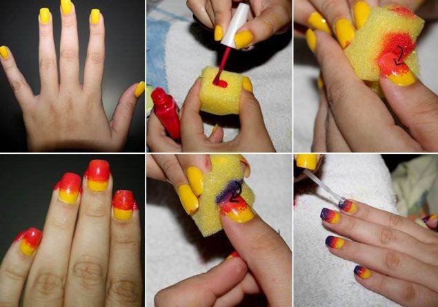Unhas Decoradas para Carnaval 2013 #prom world cup nail art