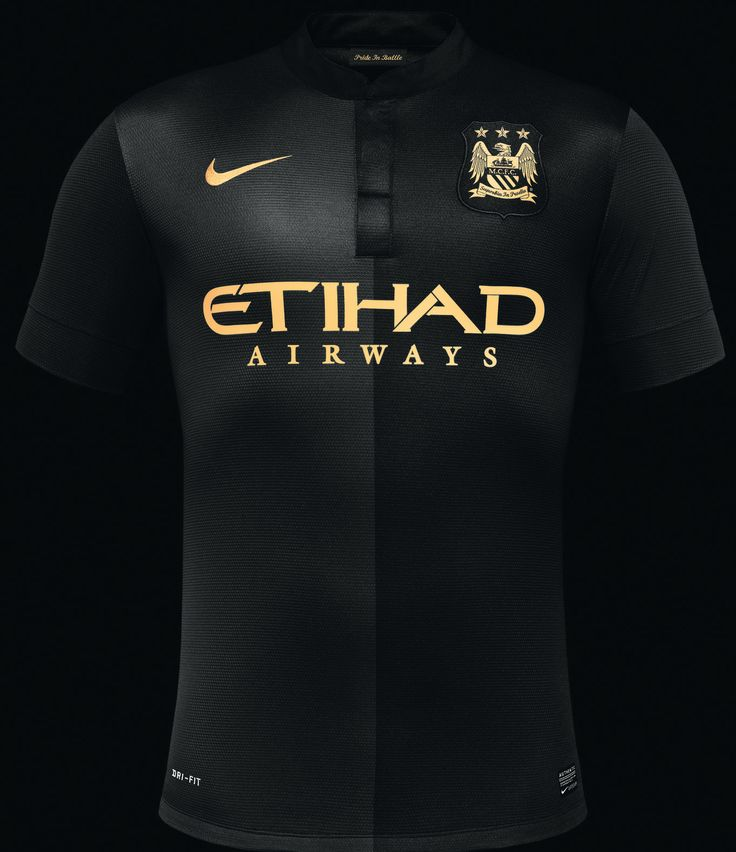 Nike Manchester City 2013-2014 Home and Away Kits released, Third Kit leaked. The new Manchester City 2013-14 Home Jersey comes with a white collar while the Away is Black / Gold and the Manchester City 2013-14 Third Kit is white.