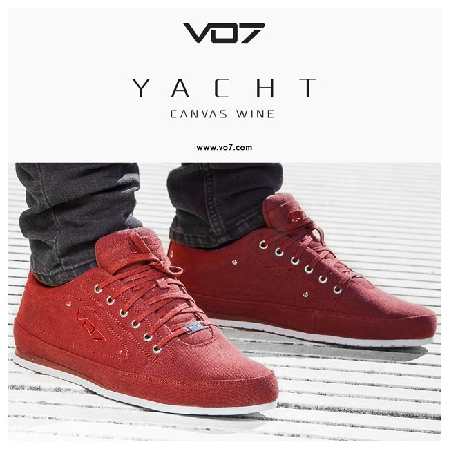 VO7 Yacht Canvas Wine - un look original et décontracté pour ce printemps 2015   footwear - streetchic - chaussures pour homme - shoes for men - colorful - fashion - style - original - spring 2015