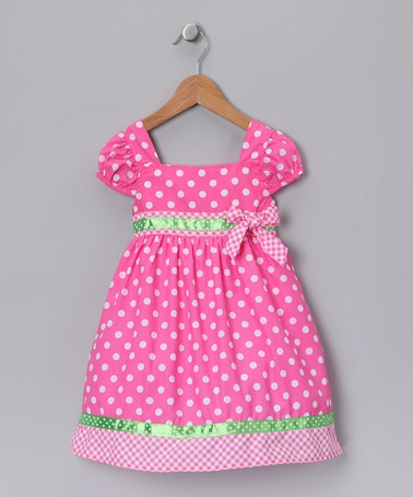 Pink & Lime Polka Dot Dress
