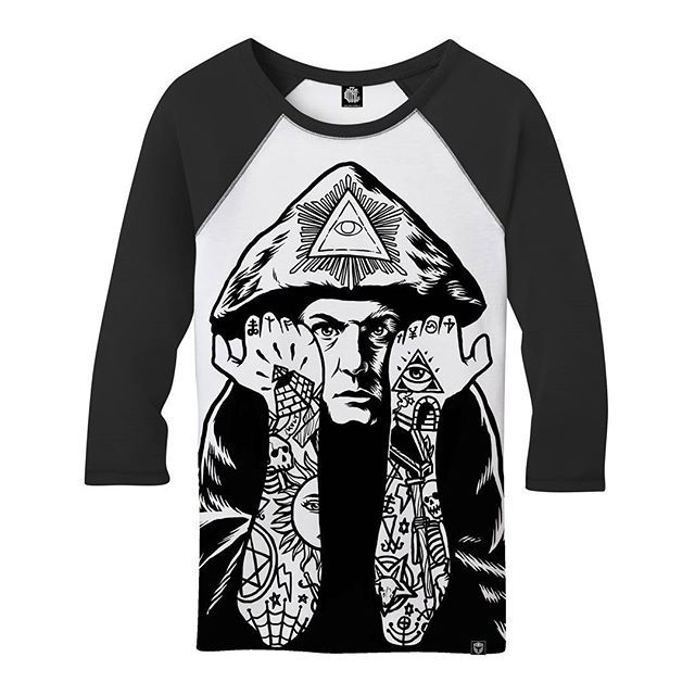 "CRMC X @julianakbar ""Crowley"" 3/4 Sleeved Raglan Tee Part of our Winter 2016 Collection  coming soon at www.crmc-clothing.co.uk #alt #altwear #altfashion #altstyle #alternative #alternativefashion #alternativestyle #winter2016 #fashionstatement #winter #need #winter #winteriscoming #winterwear #dowhatthouwilt #777 #therion #tattooed #tattoos #tattoo #styles #style #alternativeguy #alternativeboy #alternativegirl #alternativeteen #crowley #93 #aleistercrowley"