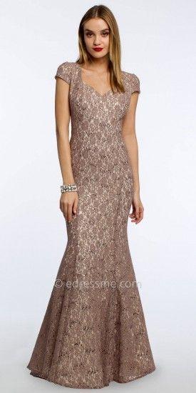 Camille La Vie Sequin Lace Trumpet Dress