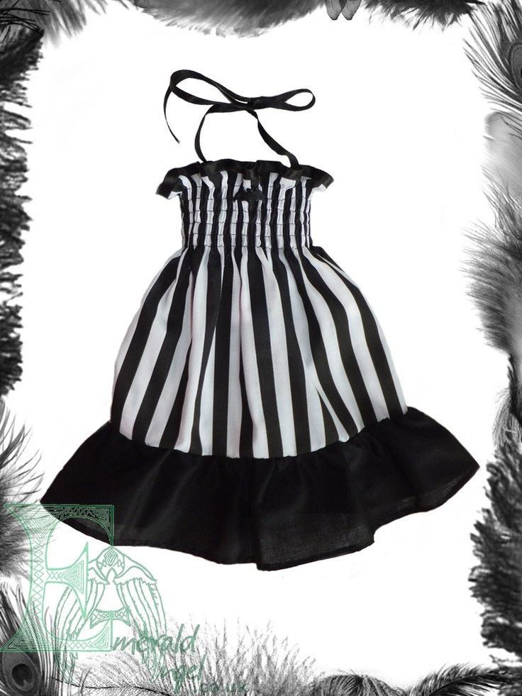 Baby Stripes Bat Summer Dress, Baby Goth. $40.00, via Etsy.