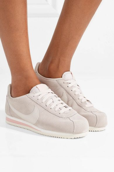 the latest 74fc4 9d456 Nike - Classic Cortez Suede And Leather Sneakers - Stone