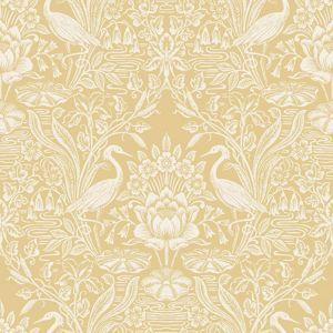 Fine Decor Crane Toile Corn Wallpaper
