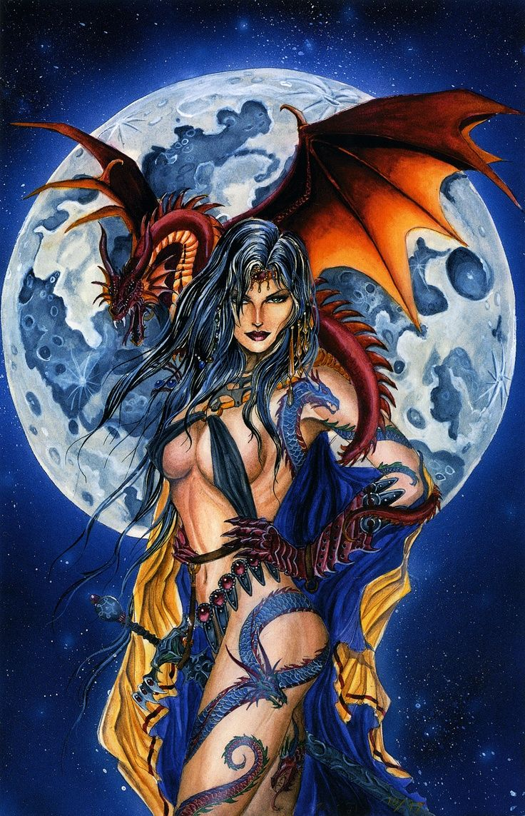 Thomas Dragon Witch Moon Oil Painting HD Printing On Canvas 16