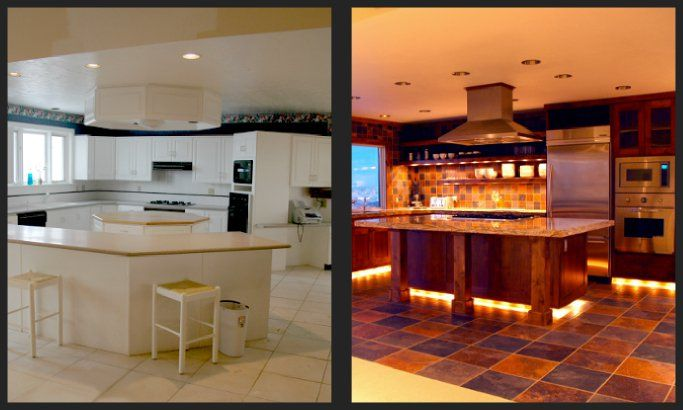 25 best kitchens before and after images on pinterest for Kitchen renovation before and after