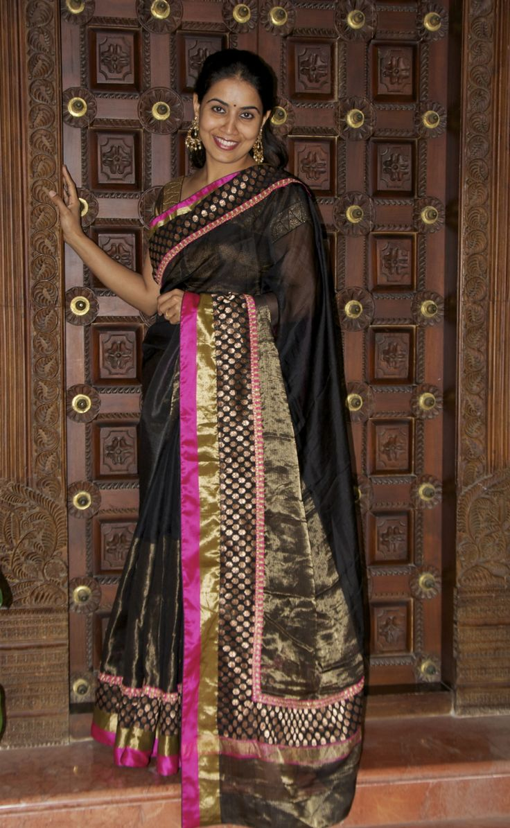 Silk Kota with Brocade border
