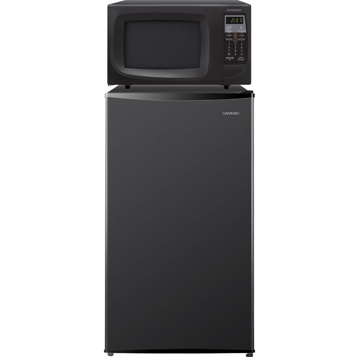 Daewoo Microwave Combo 4.2-cu ft Freestanding Compact Refrigerator with Freezer Compartment (Black) ENERGY STAR