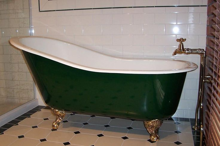 Hip Bath, 4 size ranging from 1350mm through to 1800mm, Interior Vitreous Enameled, exterior painted, Feet can be either Solid Brass, Chrome Plated or painted.