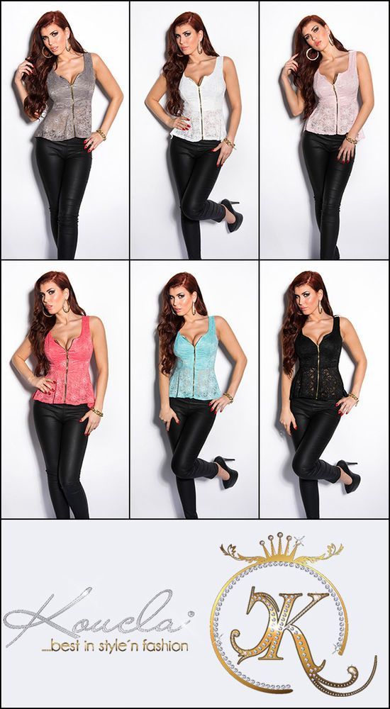 Tunika Bluse mit Schößchen Longtop Longshirt mit Spitze Shirt Top Hüftlang 36-38