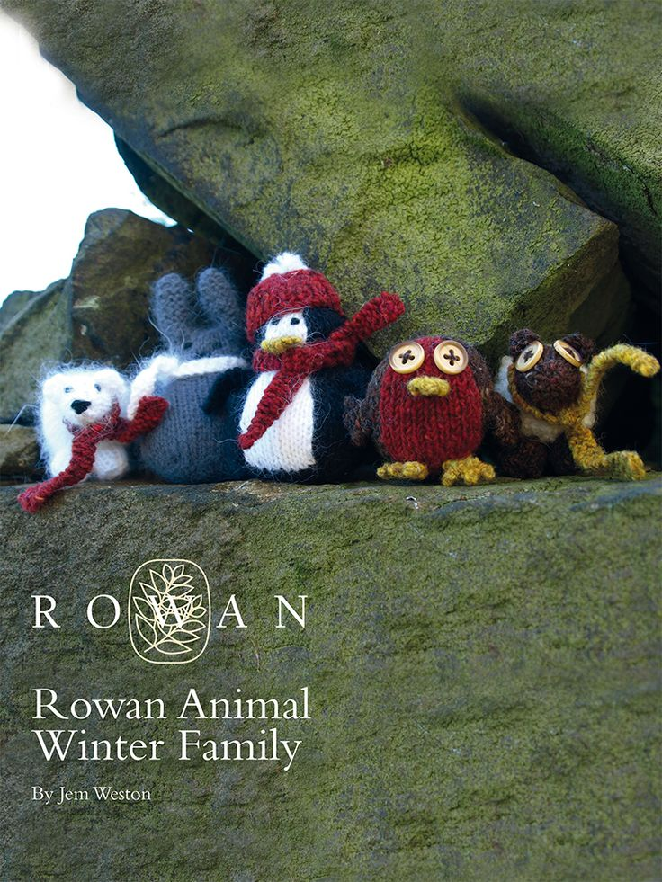 Animal Winter Family #freeknittingpattern #christmasdecorations