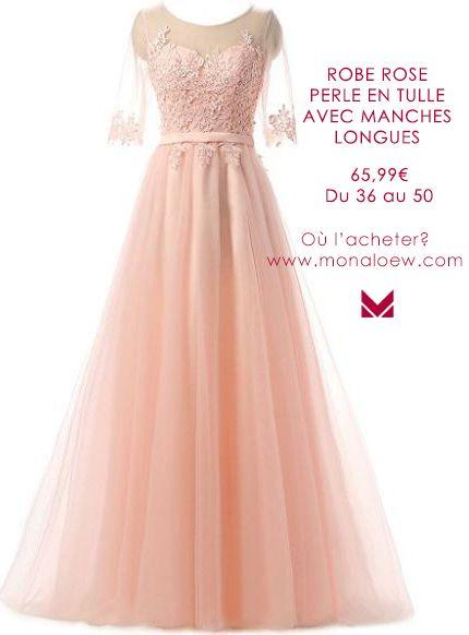 cee20c21f2a Magnifique robe de soirée pour demoiselle d honneur couleur rose poudré. Le  haut de