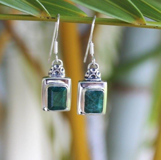 Indian-dyed Emerald Lantern earrings. www.opusjewels.com.au