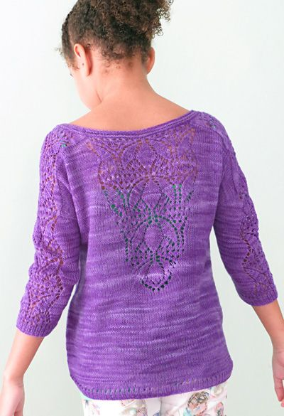 Lace Knitting Patterns For Sweaters : Stiorra pullover knitty spring summer free