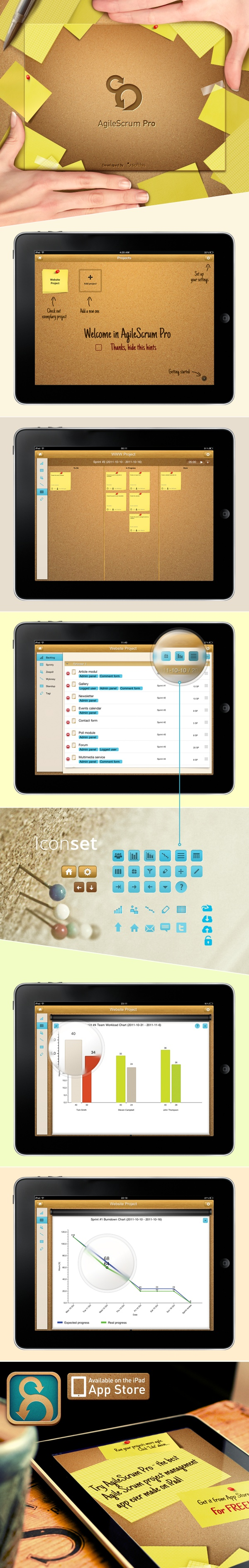 #AgileScrum Pro #application for #iPad #Scrum #management #app