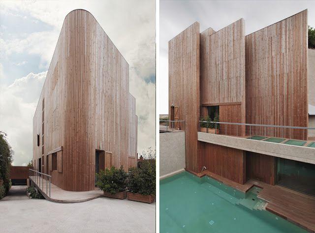 Revestimientos de madera en exterior Espacios en madera