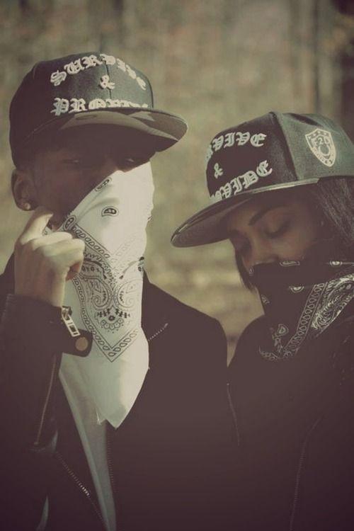 couple, gangsta, and thug image