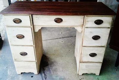 Desk Makeover By Re-invintage - Featured On Furniture Flippin'