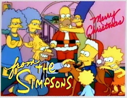 Merry Christmas from the Simpsons!