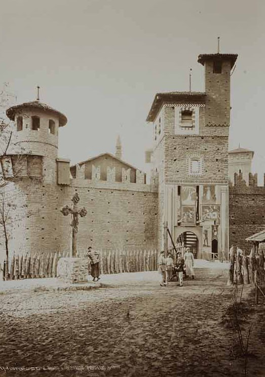 Picture from 1884. The Medieval Village's entrance. Torino.  www.borgomedievaletorino.it