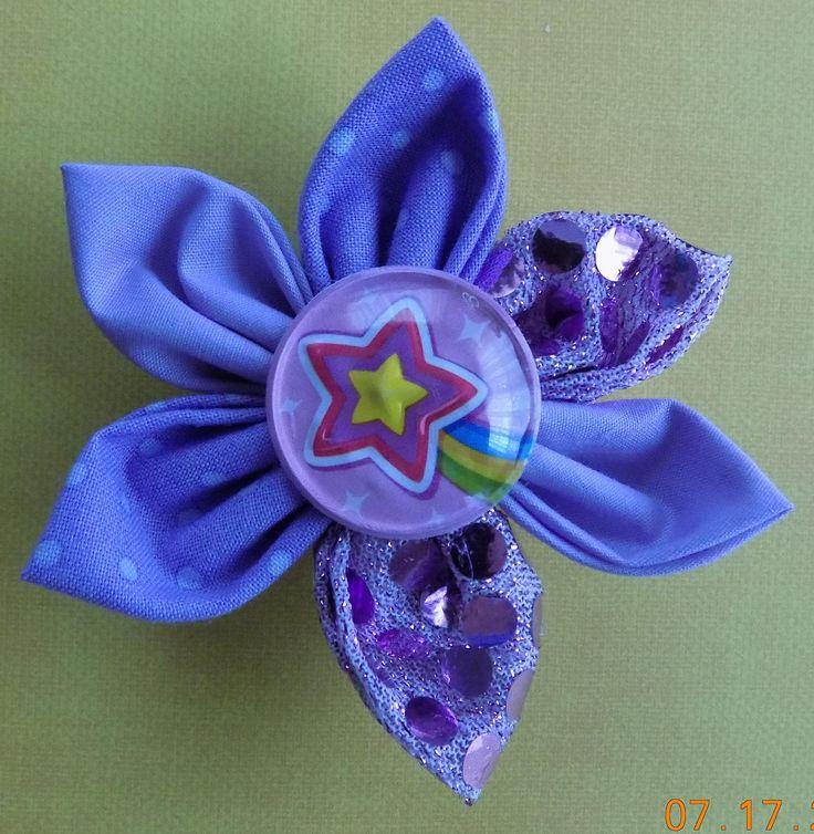 Purple Dog Collar Flower//Dog Collar Flower Bow//Over the Collar Dog Bow by PrettyPuppiesbyJ on Etsy