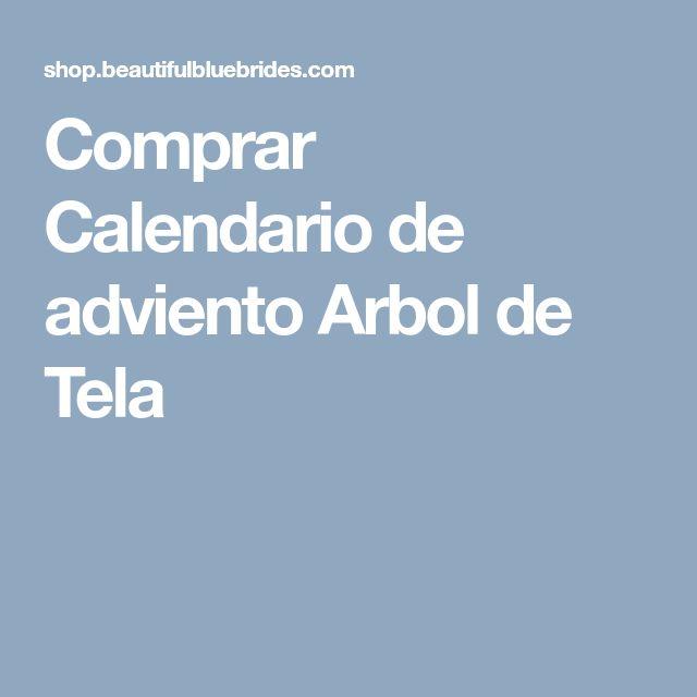 Comprar Calendario de adviento Arbol de Tela