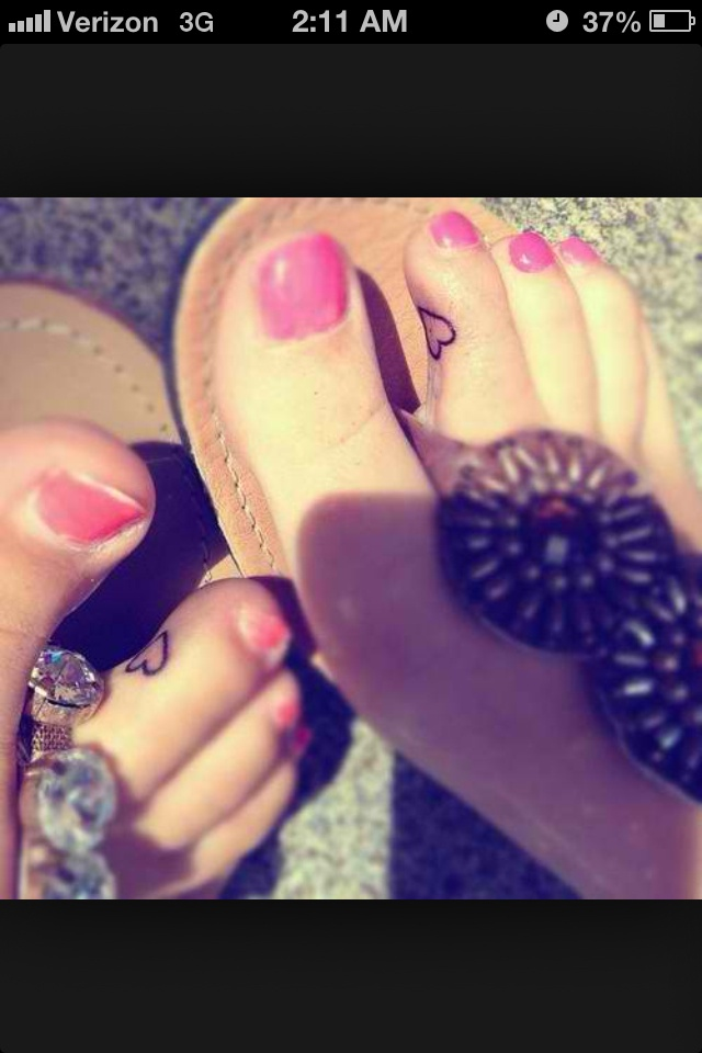 Simple mother daughter tattoos i would rather not do on for Toe tattoos pinterest