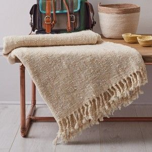 Pure Wool Luxury Throws - Natural Cream #hygge