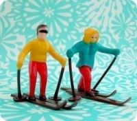 Happy Skiing Couples and other vintage looking picks and toppers
