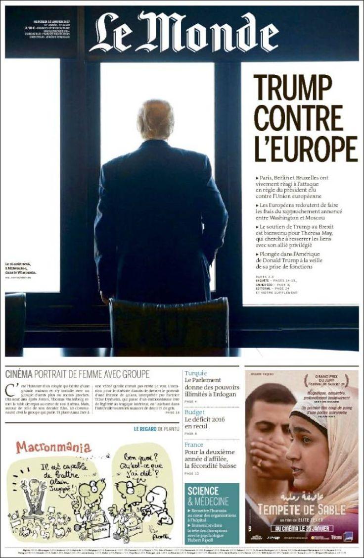 Le Monde and Trump