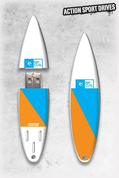 Rip Curl SurfDrive : Aggrolite USB Flash Drive // Action Sport Drives have teamed up with the best surfboard companies in the industry to create the original USB Flash Drive short surfboard. We've combined this innovative design with Rip Curl graphics like their Aggrolite Model.    Now you can get your favorite surfboard graphics, and transfer files in style.