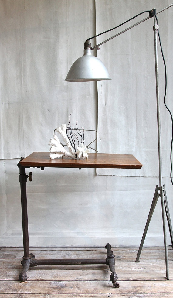 Wishlisted furniture:  an antique drafting table.