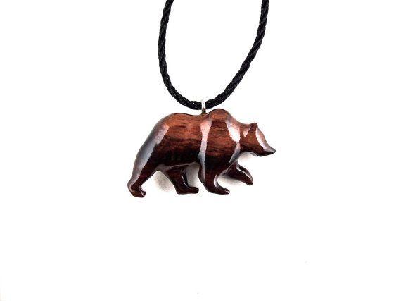 Bear Pendant Bear Necklace Grizzly Bear Necklace by GatewayAlpha