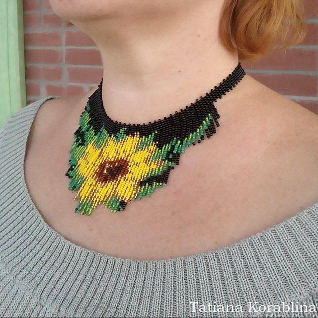 Seed Bead Fringe Fashion Necklace