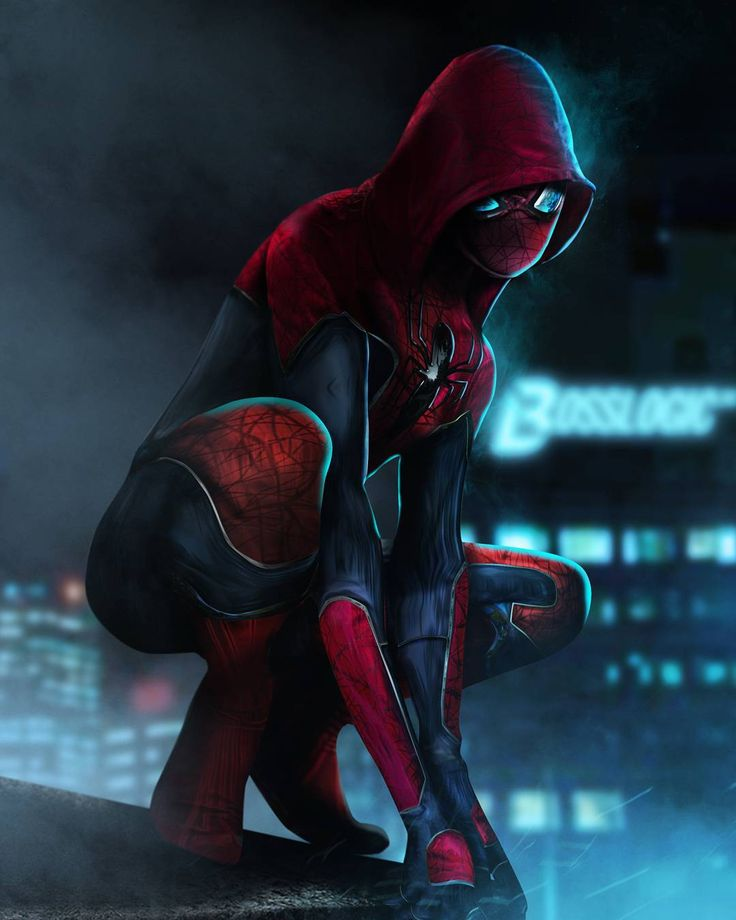 Just went full hood - #CivilWar Spiderman based on hoodie by devilzsmile.com #devilzsmile