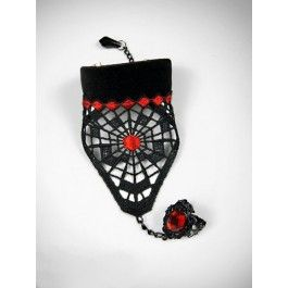 Bracelet d'Esclave Gothique Romantique Victorien Spider
