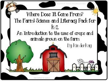 THIS PACKET HAS BEEN REVISED! Where does our food come from? Does milk just show up at the grocery store? What grows on the farm? I have a passion for teaching kids that food does not start at the grocery store! I was inspired to write this unit when I asked my kinders WHERE DOES OUR FOOD COME FROM and they answered THE GROCERY STORE!
