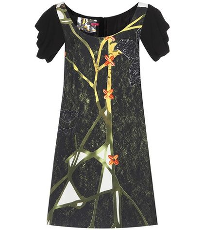 Prada Floréal Printed Crêpe Dress For Spring-Summer 2017