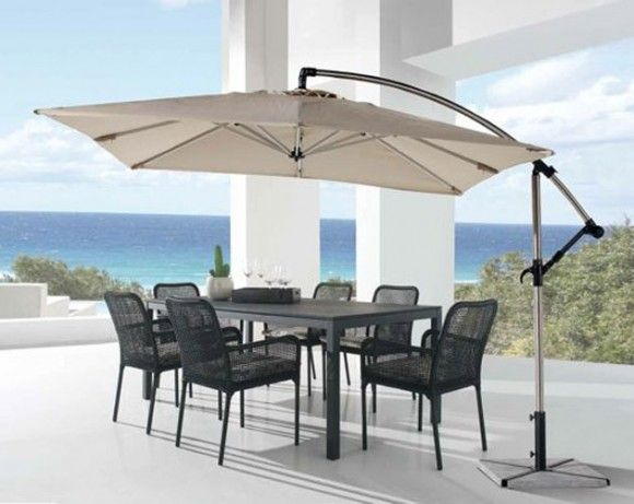 17 best images about parasol on pinterest rooftop for Mesas para jardin con sombrilla