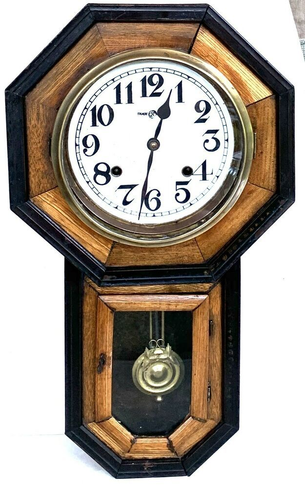 Antique Meiji Wall Clock Seikosha Dial Original Pendulum Working Japan 1908 Meiji Antique Wall Clock Clock Wall Clock