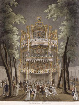 Vauxhall Gardens by Thomas Rowlandson, 1808