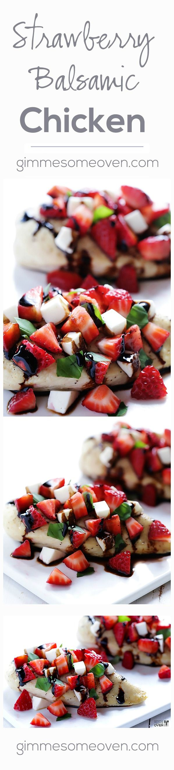 Strawberry Balsamic Chicken.  Even without the topping, this would be yummy (chicken marinated in balsamic vinegar).