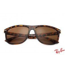 RayBans RB4147 Wayfarer sunglasses with tortoise frame and brown lenses