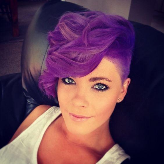 Purple Pixie Cuts!