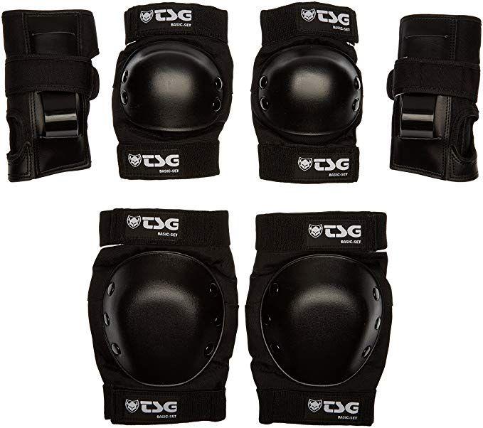 Tsg Basic Set Pads For Skateboard Black S Review Skateboard Skateboarding Protective Gear Skateboard Helmet